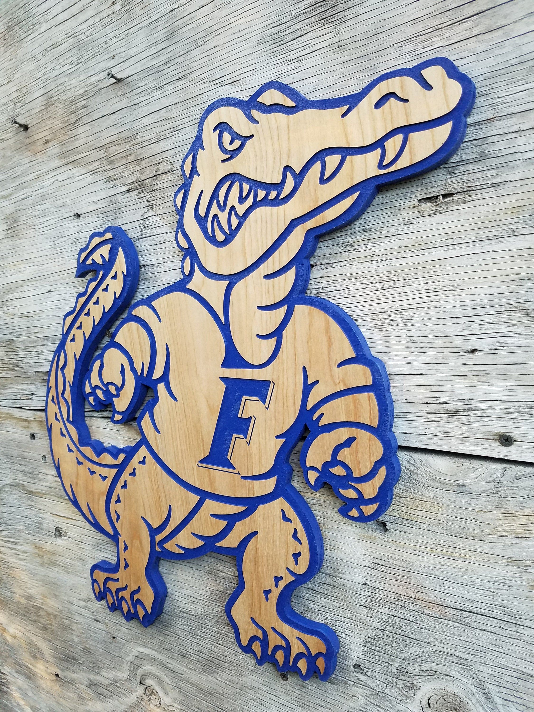 Uf Florida Gator Wooden Wall Hanging Football Decor Etsy Florida Gators Wallpaper Florida Gators Football Florida Gators