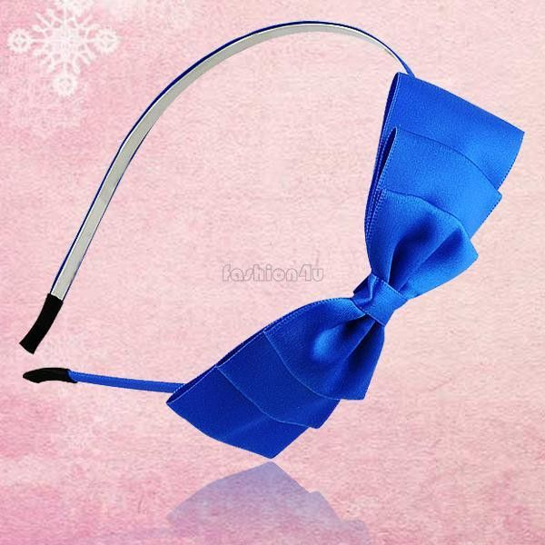 Women Girls Korean Fashion Bow Headband Hairband Elegant Hair Bands Holder Hoop 13 Color Selling hair accessories EQ5712
