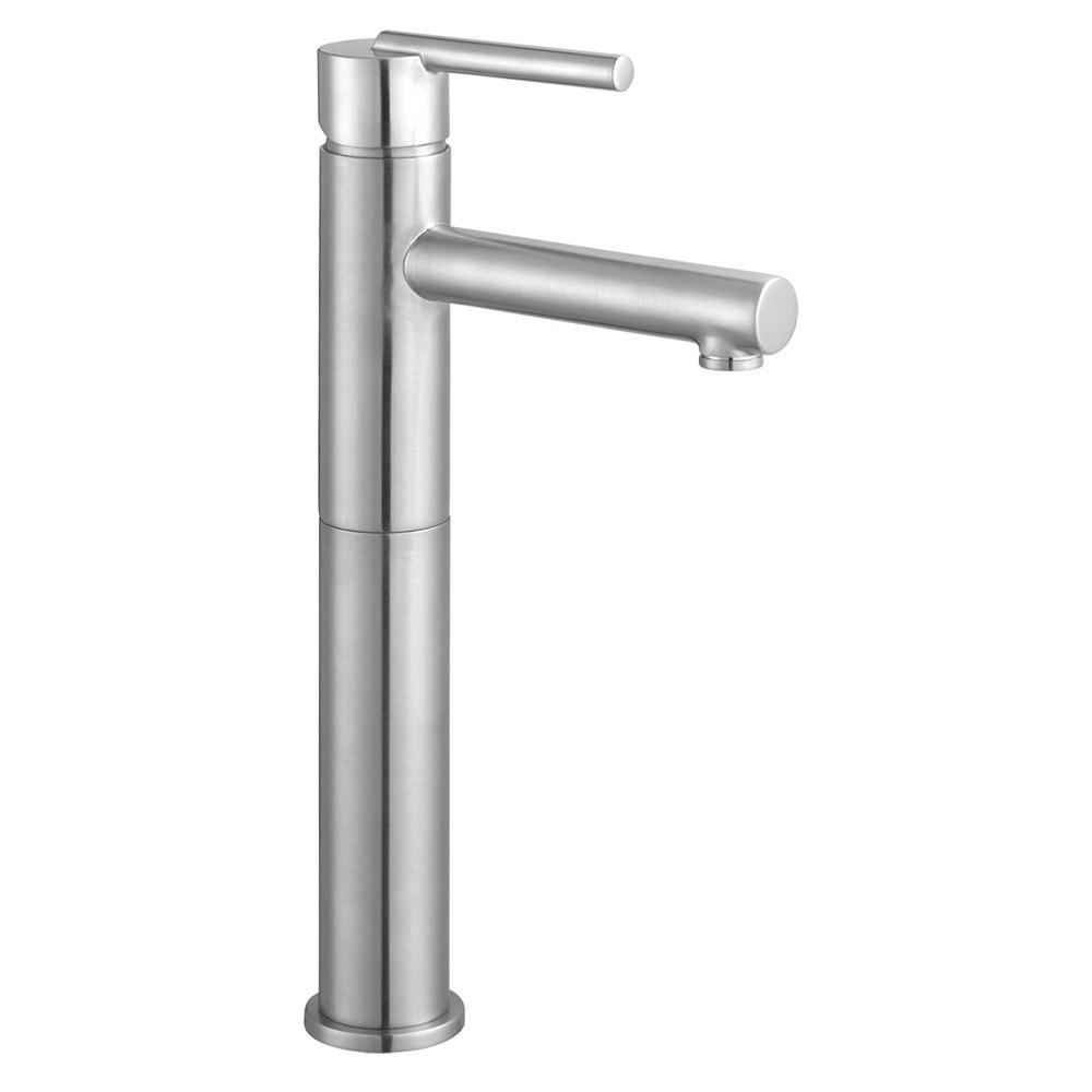 Design House Geneva Single Hole Single Handle Vessel Bathroom Faucet In Satin Nickel 525576 The Home Depot In 2021 Single Handle Bathroom Faucet House Design Vessel Faucets