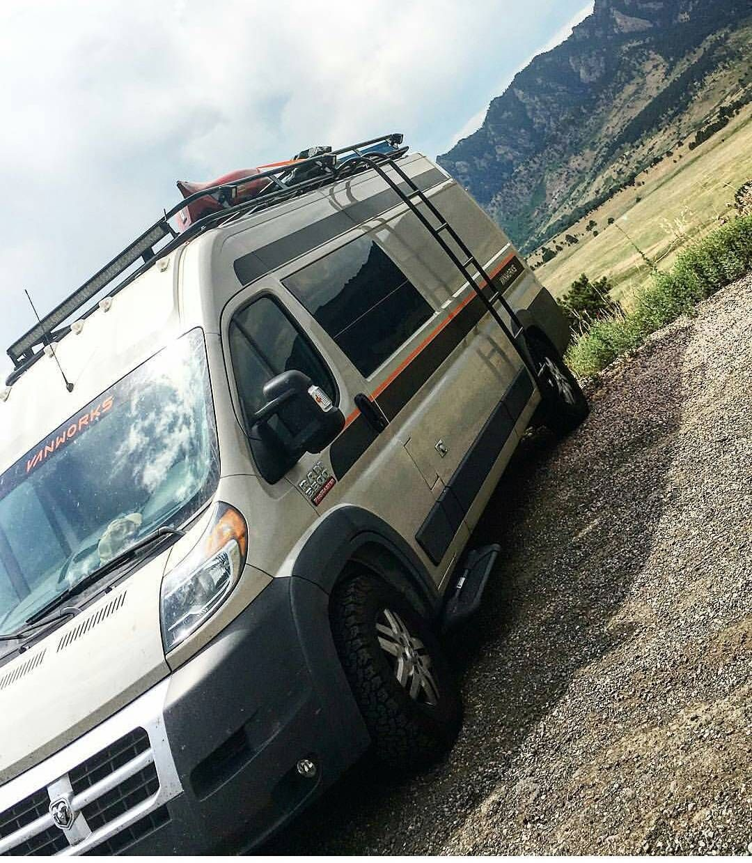 Dodge Promaster With Aluminess Roof Rack And Ladder Photo