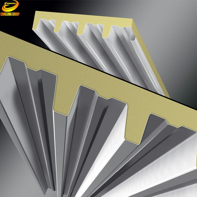 Insulated Fireproof Rock Wool Sandwich Panels For Garage Insulated Concrete Forms Fireproof Insulation Paneling