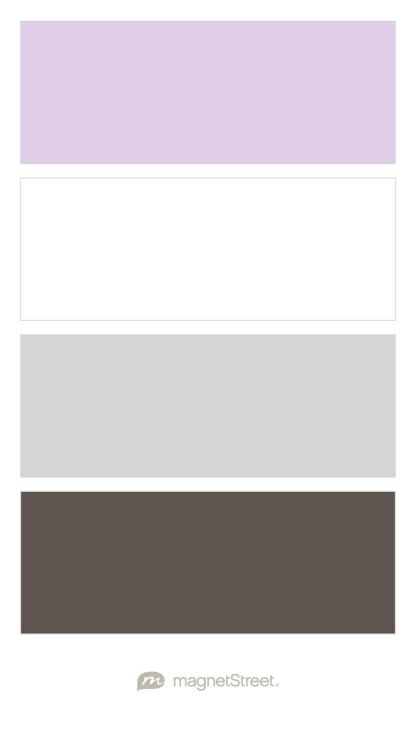 Lavender White Silver And Slate Wedding Color Palette Custom Created At Magnetstreet