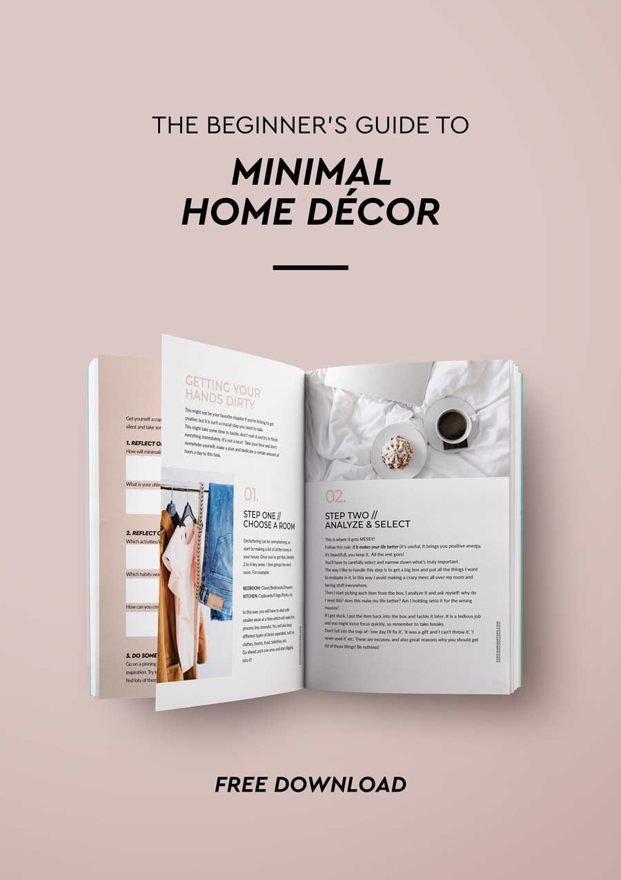 The Beginners Guide To Minimal Home Decor Free Ebook On