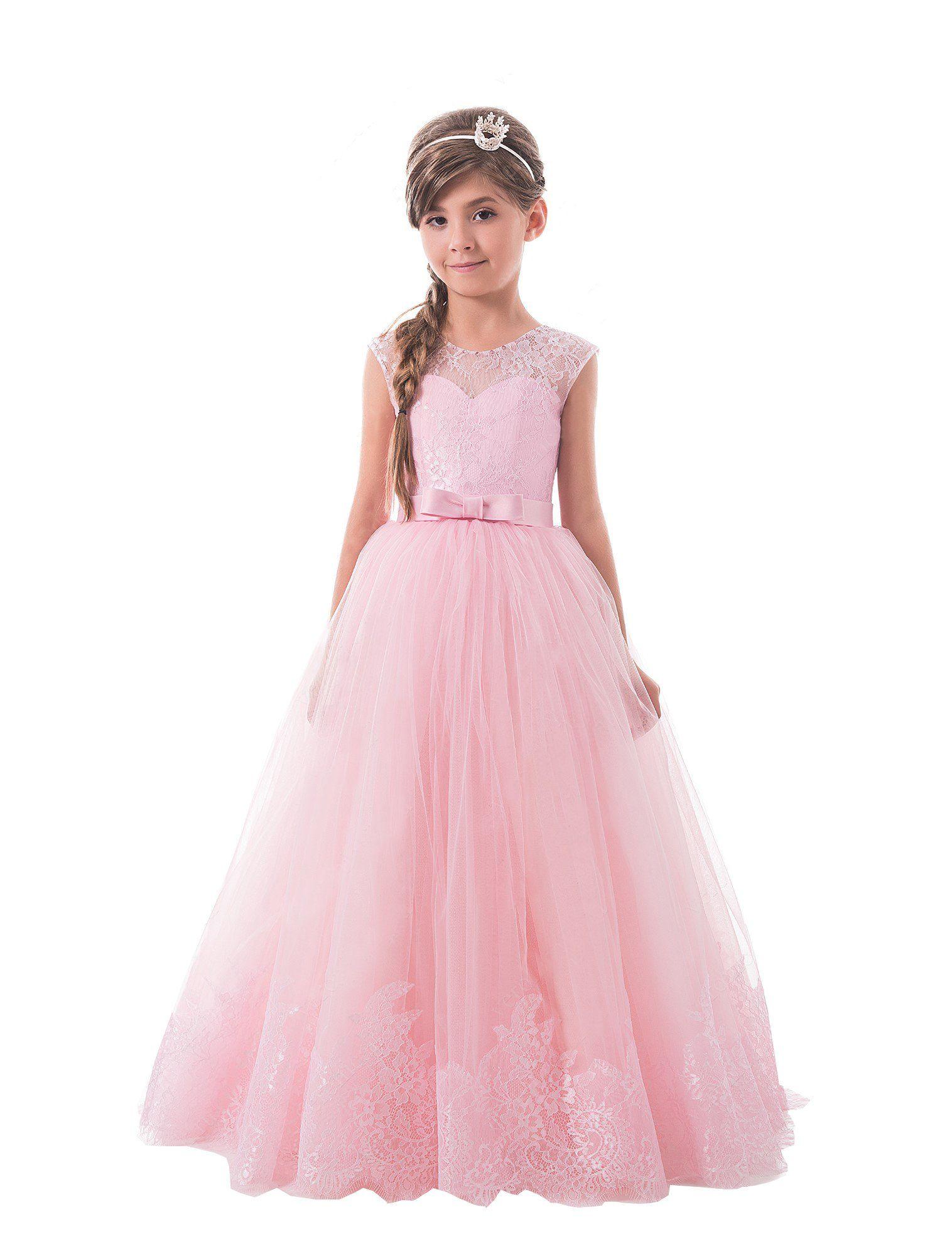 Lujoso Childrens Vestidos De Dama De Color Púrpura Colección ...