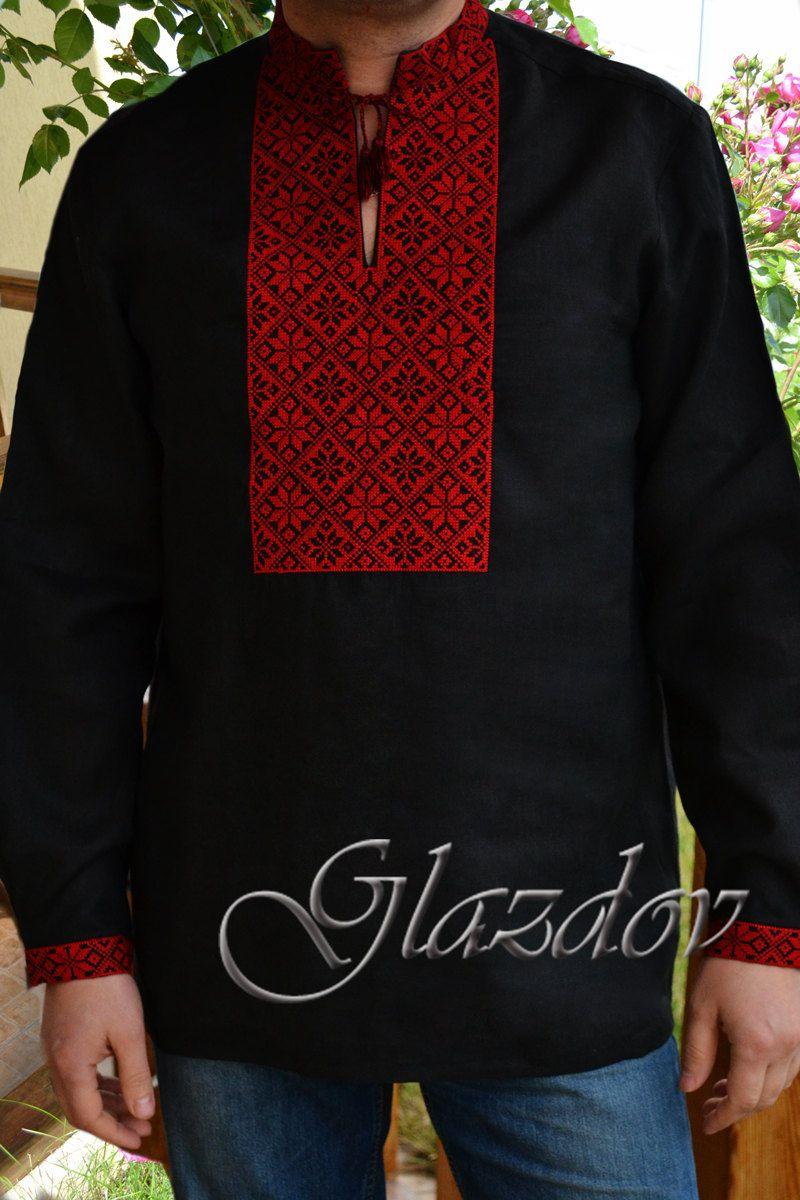 Ukrainian Embroidered Shirt, Ukrainian vyshyvanka by GLAZDOV on Etsy #vyshyvanka #vyshyvankamen