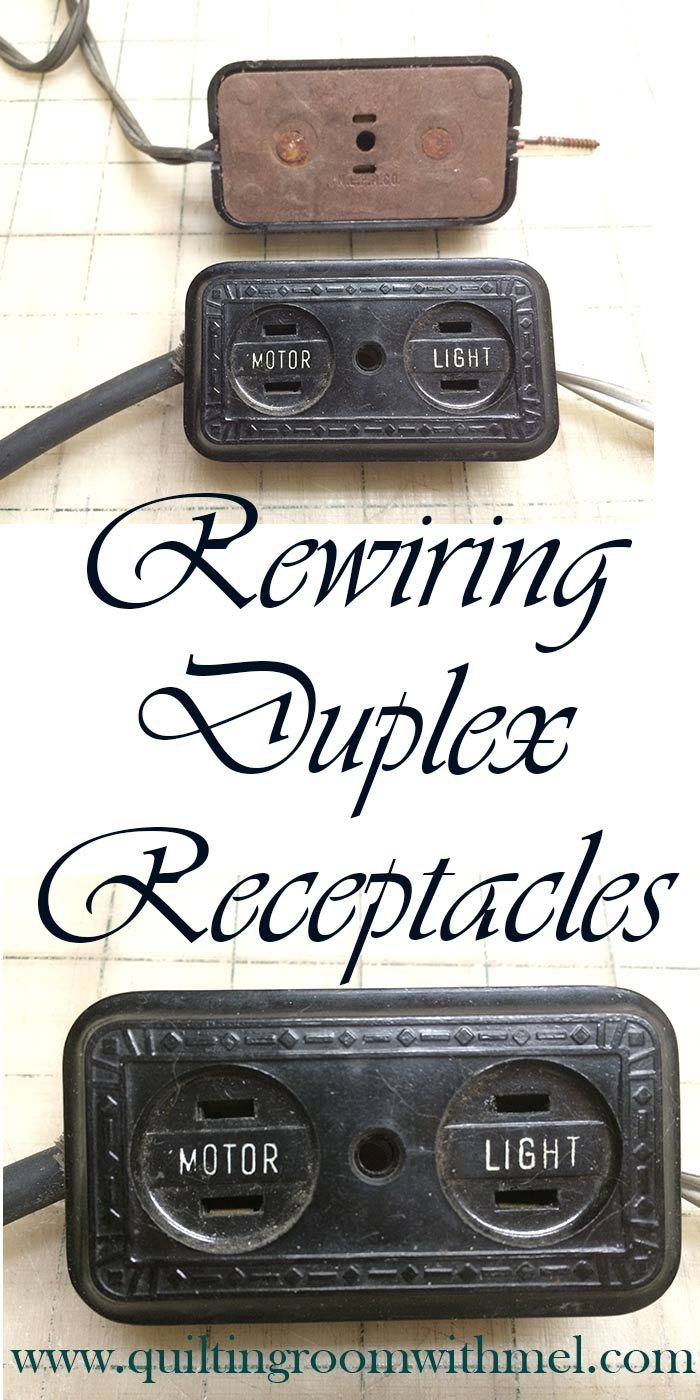 Rewiring A Duplex Receptacle On Vintage Sewing Machines | Do It ...