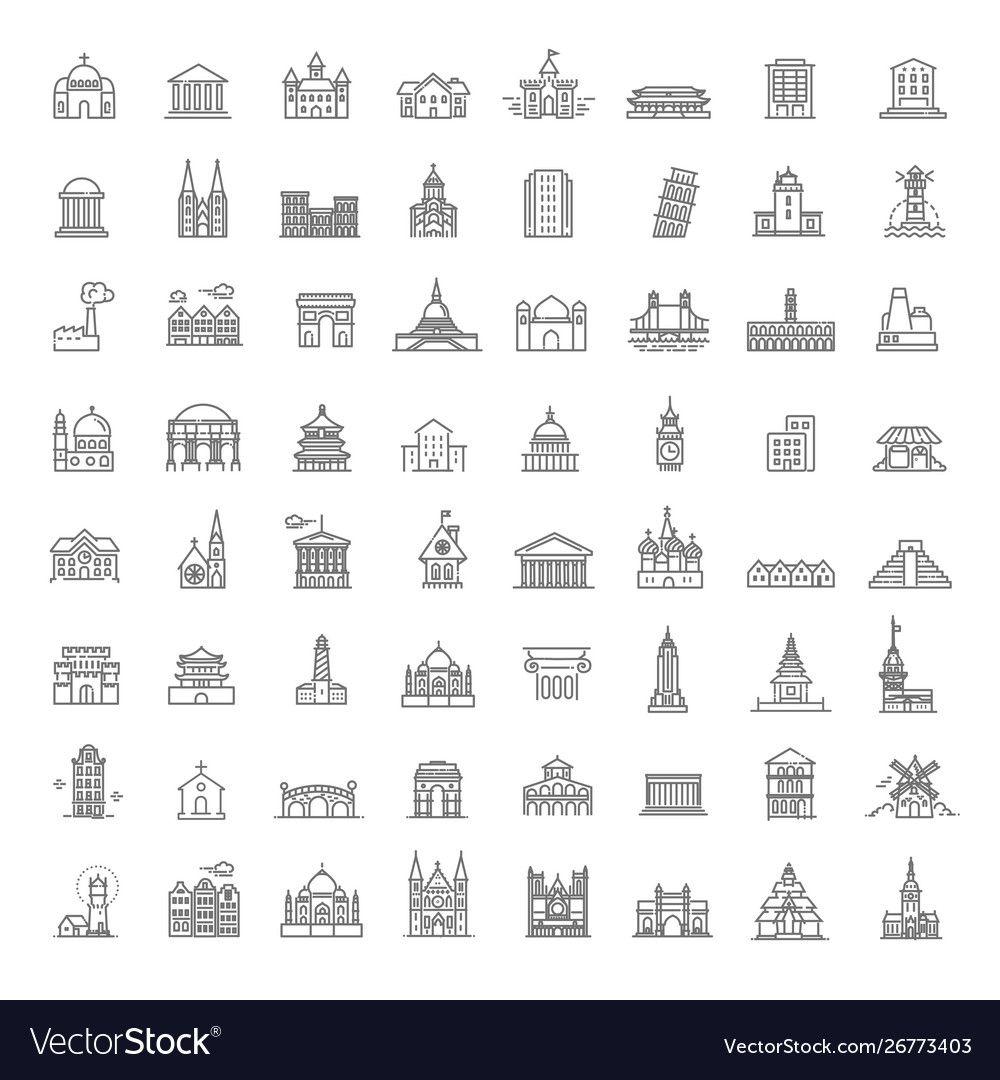Building Icons Set Government Landmarks Royalty Free Vector Sponsored Set Government Building Icons Ad Vector Free Building Icon Icon Set Vector
