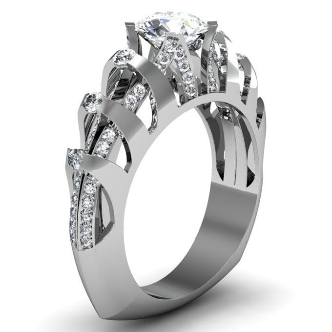 unique engagement ring settings - Modern Wedding Rings