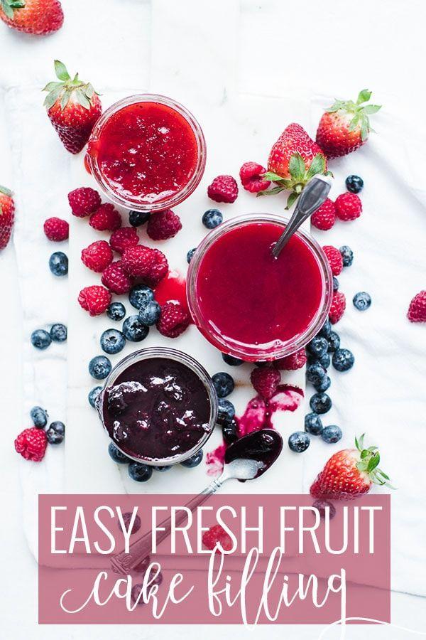Fresh Fruit EASY Cake Filling Recipe | Oh So Delicioso