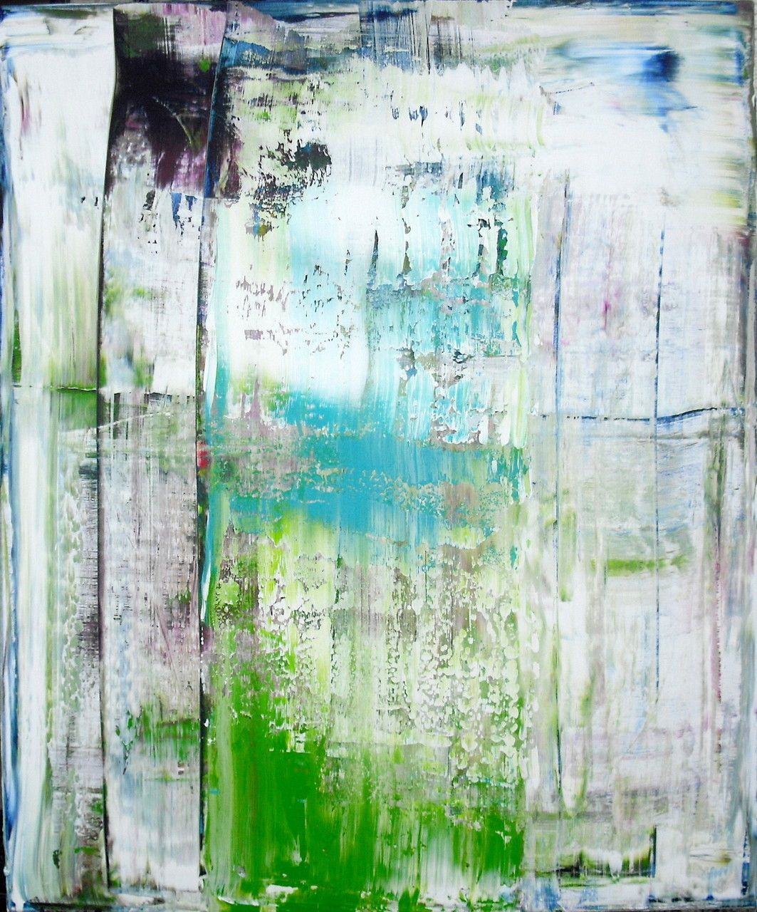 'Frühlingserwachen' (Acrylic on Canvas, 120x100cm) by Tepe Kraus #art #abstract #painting #squeegee