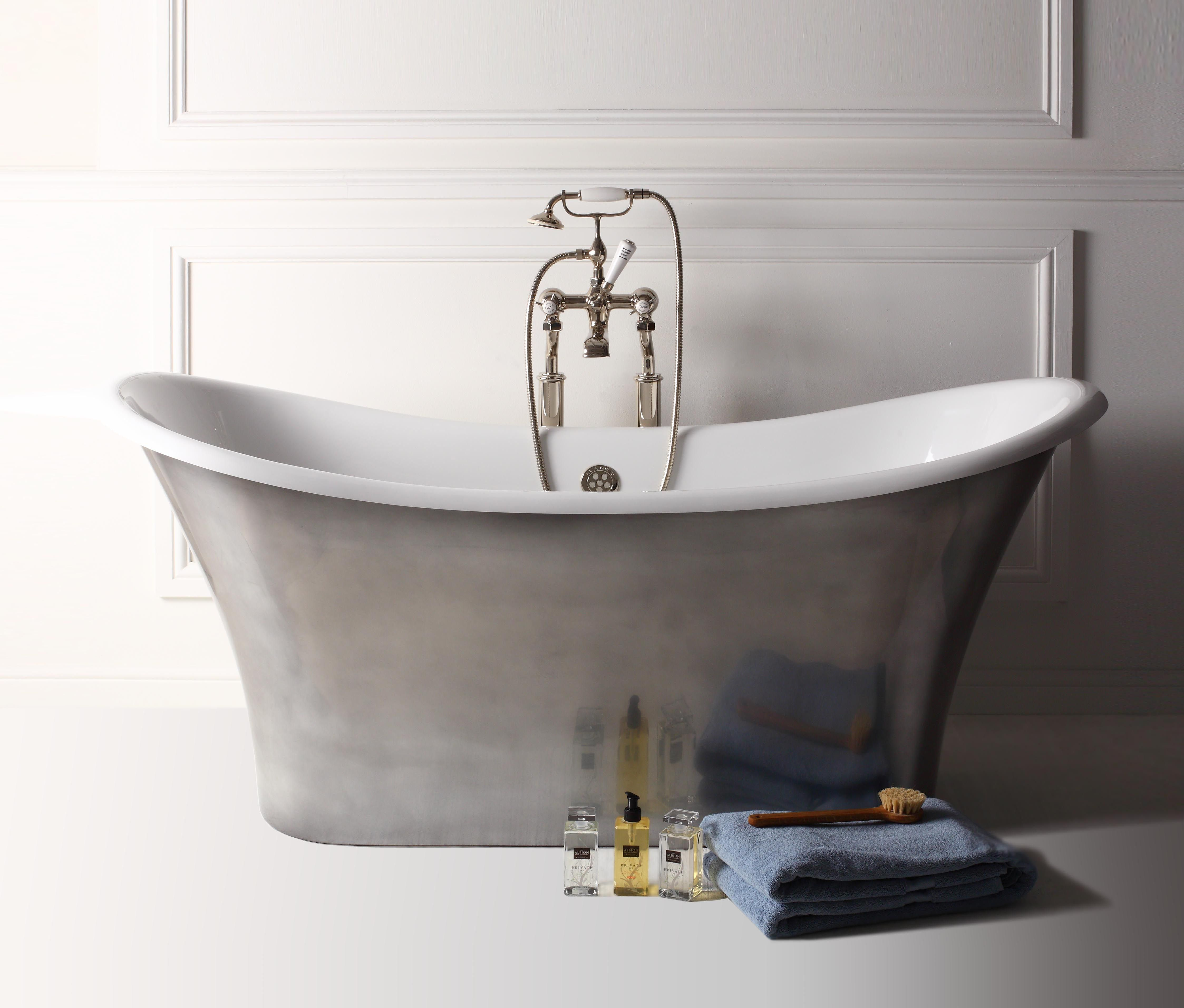 Our Apollo Bath With A Polished Pewter Finish.