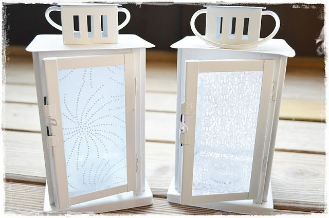 Pretty Lanterns:  Diffuse Light with Lace