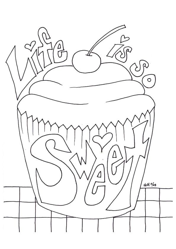 25 Lovely Cupcake Coloring Pages Your Toddler Will Love Cute