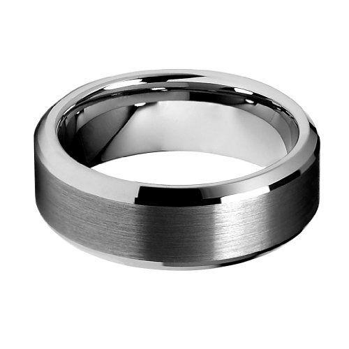Ring Size 11.5 Security Jewelers Cobalt 8mm Black Laser Cross Design Band Size 11.5