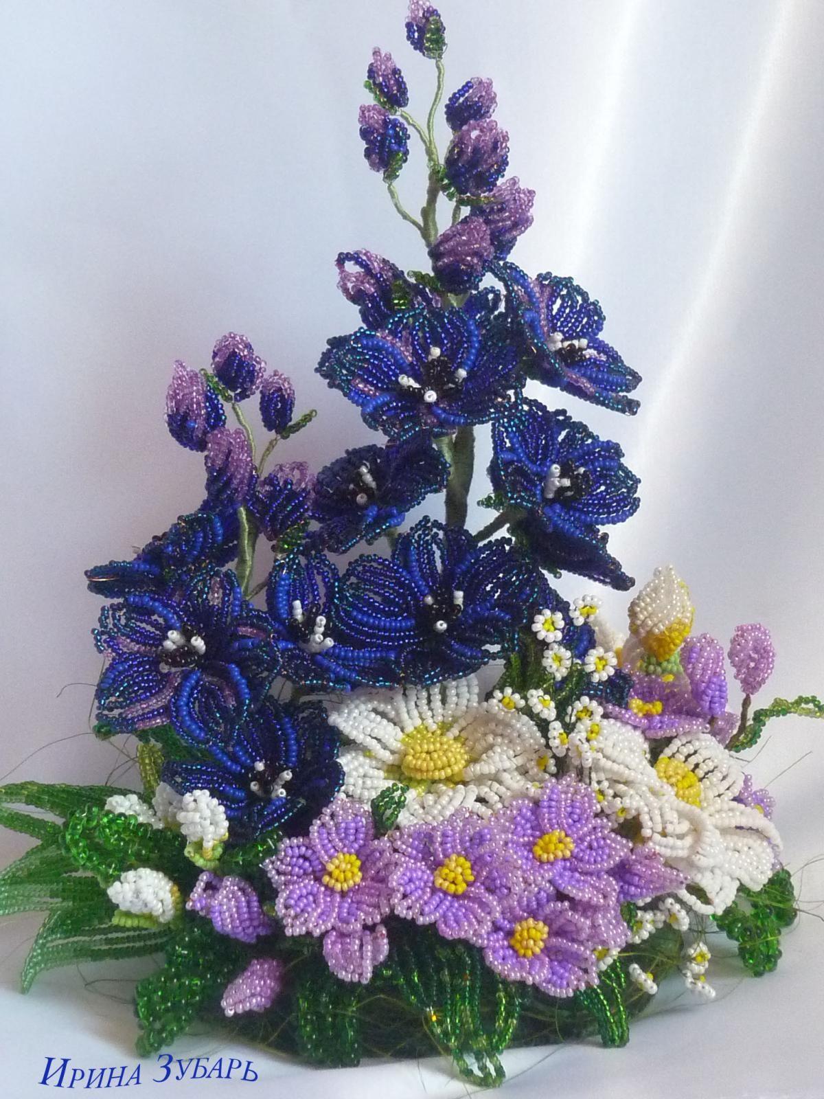 для цветы из бисера композиции и букеты фото преданиям