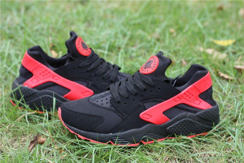 93e99bb6fc4a7 Nike Air Huarache Mens running shoes Love Hate Black Red Black ...