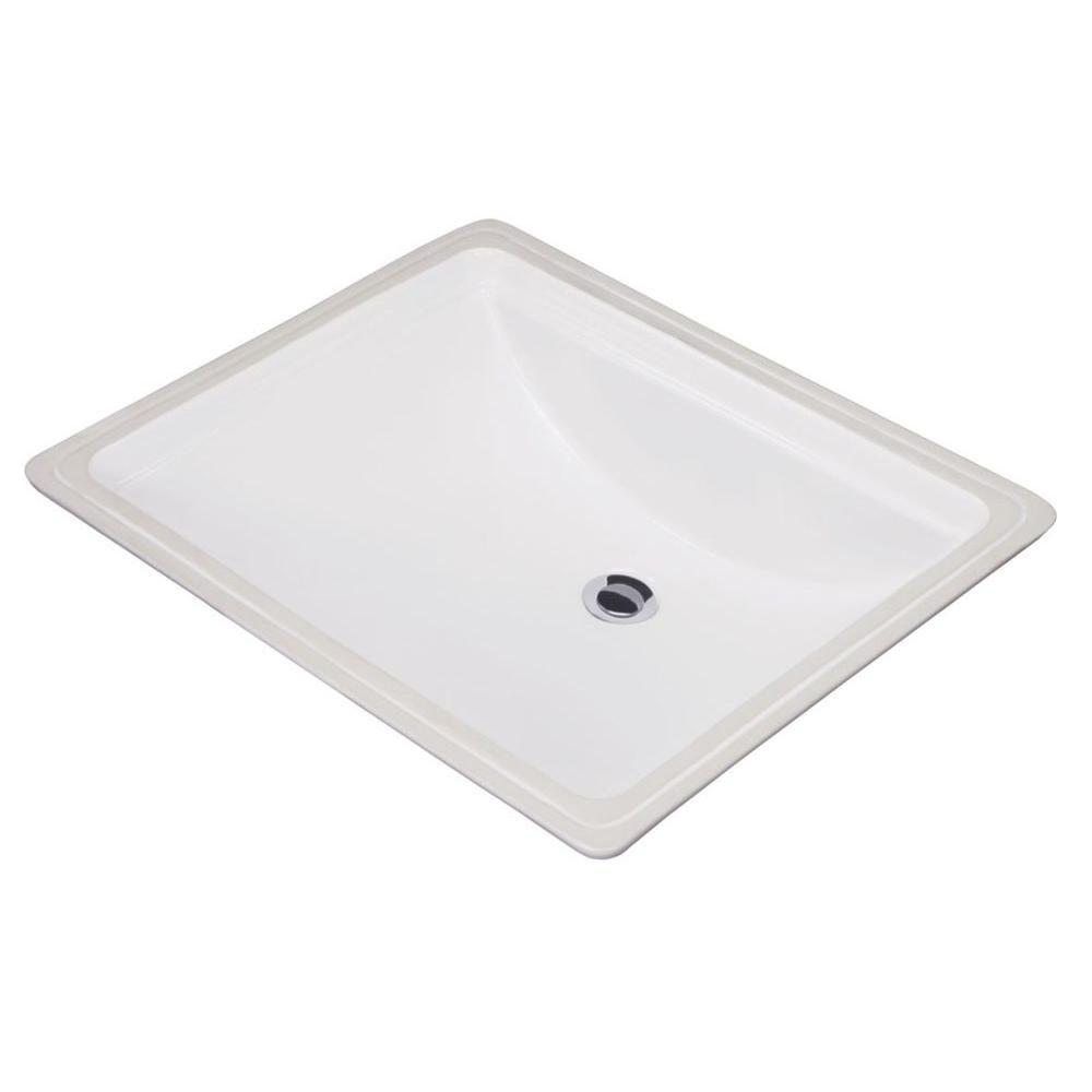Gerber Logan Square Undercounter Bathroom Sink in White-G0012760 ...