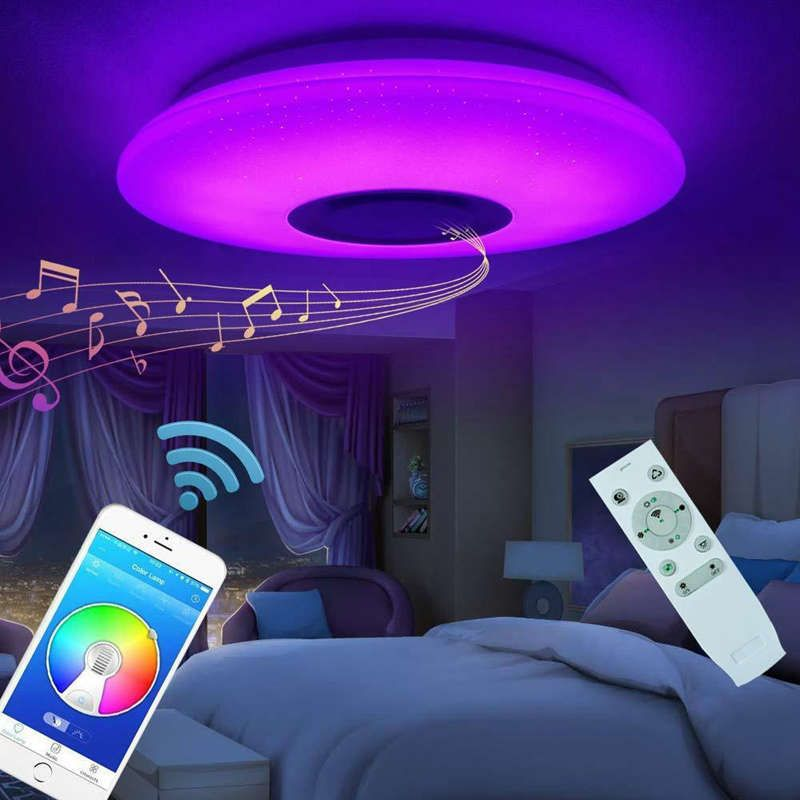 Led Music Dimmable Color Changing Ceiling Light In 2020 Led Ceiling Lights Color Changing Lights Ceiling Lights