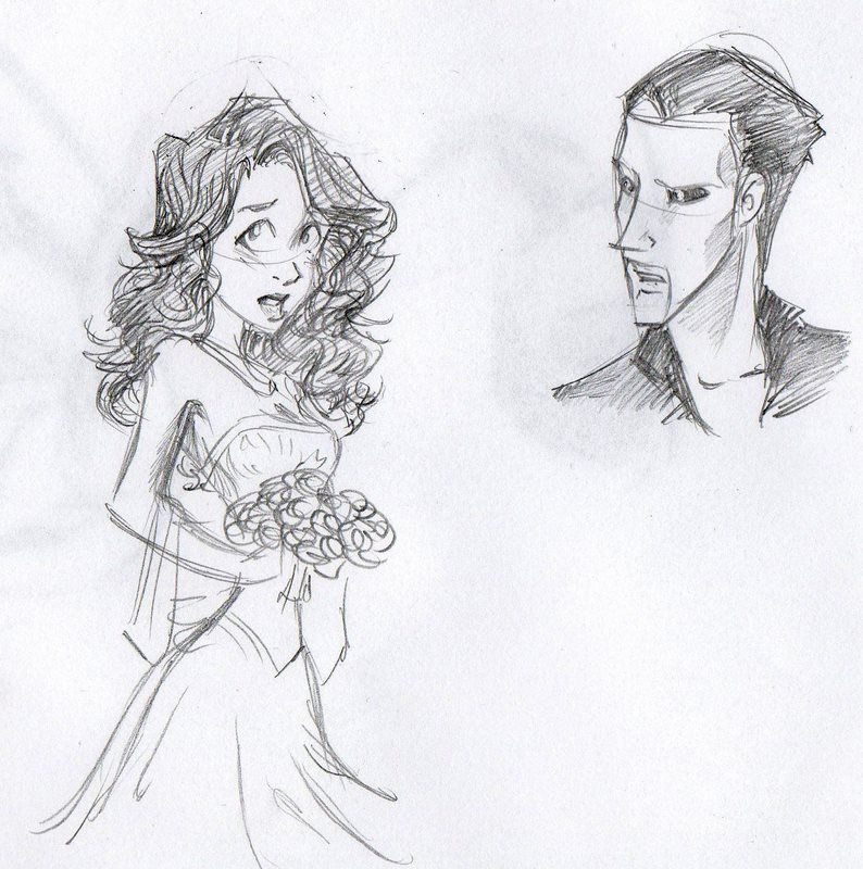 This is Requiem Mask!!! The girl is Chelsey. Dammit. I like RM but the fact that the Phantom falls in love with that girl makes me mad!! However, the story is not finished yet, soo I hope for the E/C reunion :D PotO Doodles2 by EriksDesdemona on deviantART