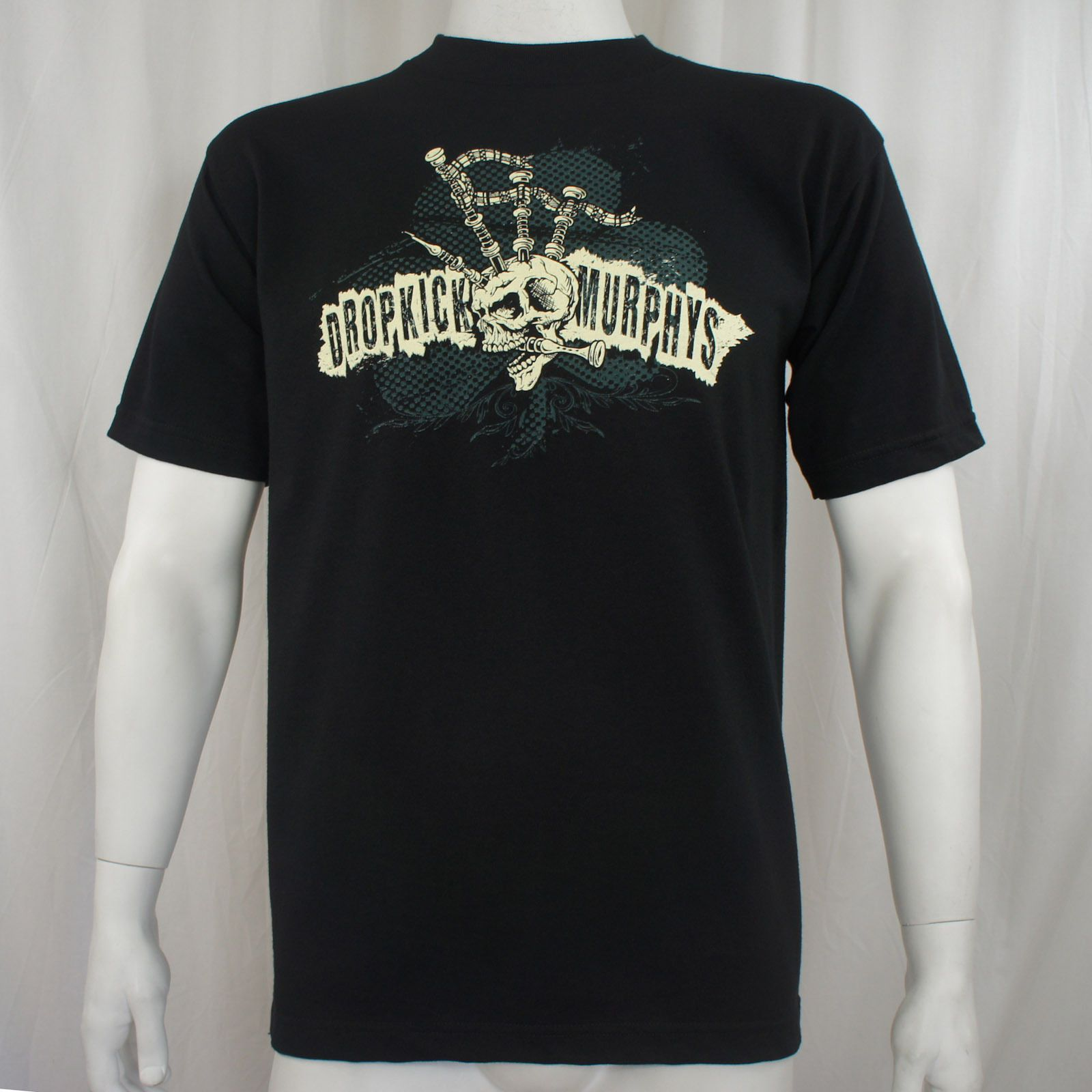 Printed Murphys Dropkick Shirt T Men Authentic Skeleton Bagpipe rwSg8rqH