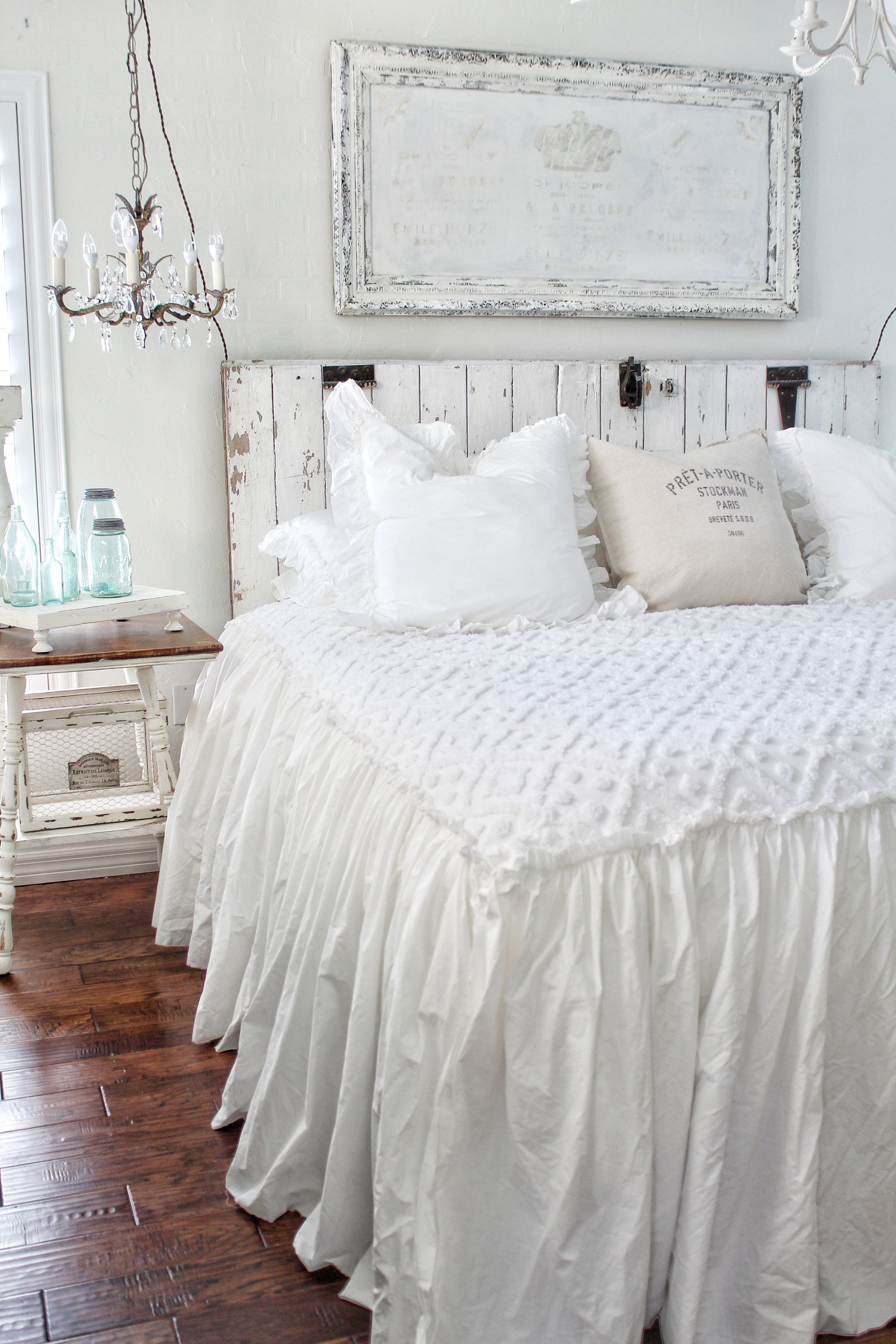 Fantastic Ruffled Chenille Coverlet Bedspread Shabby Chic Bedding Download Free Architecture Designs Intelgarnamadebymaigaardcom