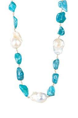 It is possible.... Turquoise  Freshwater Pearl Necklace