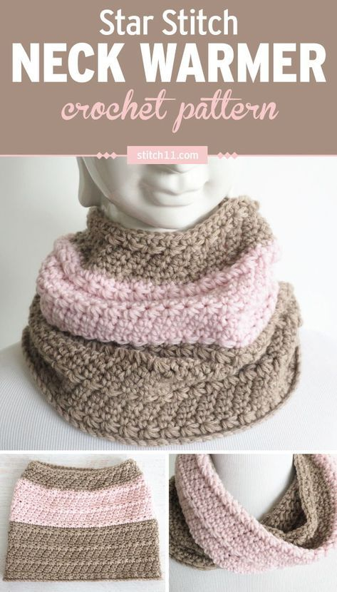 Star Stitch Neck Warmer Crochet Pattern Youll Have A Smile On Your