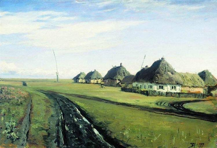 The road near the village Vasily Polenov 1844 1927 - - Nationality: Russian  1877 Realism
