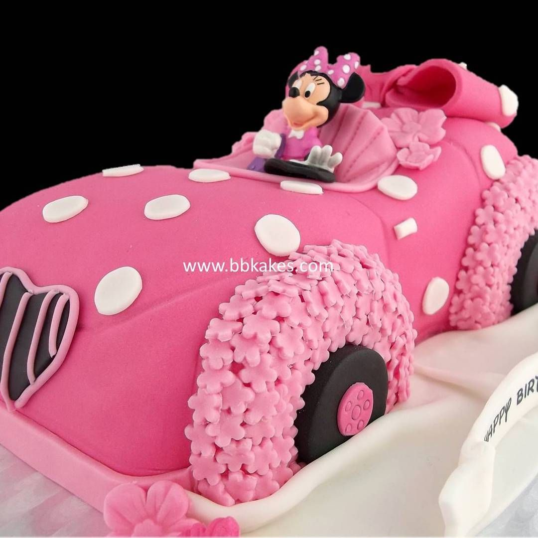 Minnie Mouse car cake with Minnie Mouse figurine by bbkakes #cake ...