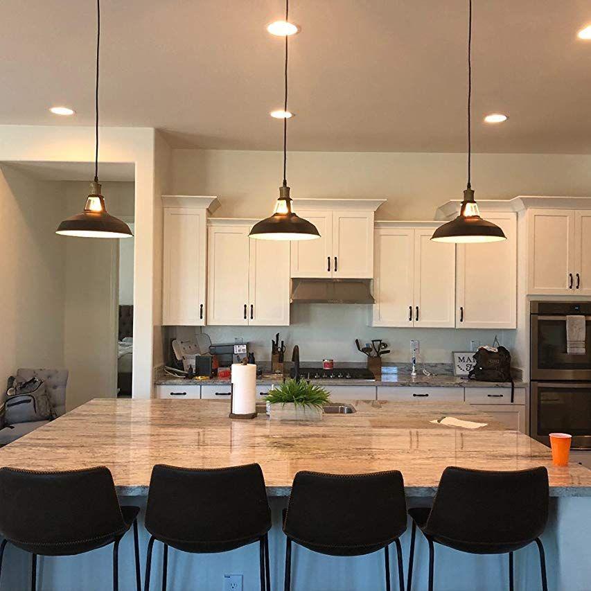 Claxy rustic kitchen island pendant lighting glass globe