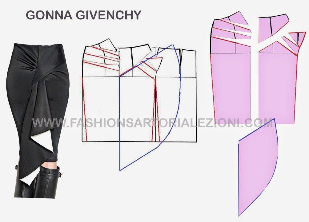 MODELO DE PAPEL Falda tubo, cómo hacer una falda, faldas hermoso ...