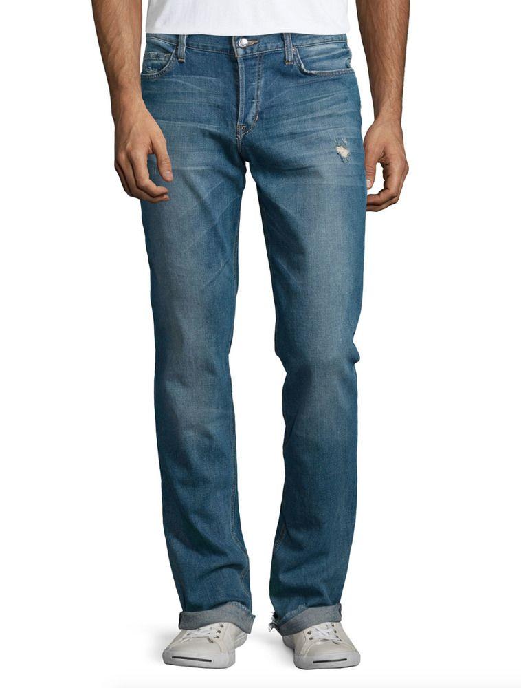 93d8c01c211 JOES JEANS Men's The Brixton Button Fly Distressed Denim Jeans Blue 31 $198  #359 #JoesJeans #StraightLeg