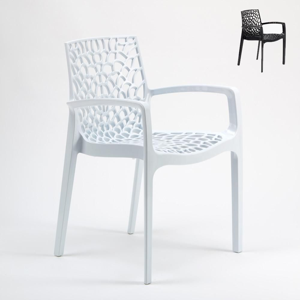 Chaise En Polypropylène Empilable Cuisine Bar Café Gruvyer Grand Soleil Polypropylene Design Chair Made In Italy With Armrests For