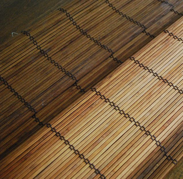 How To Stain Bamboo Blinds That Have Faded I Was Hoping To