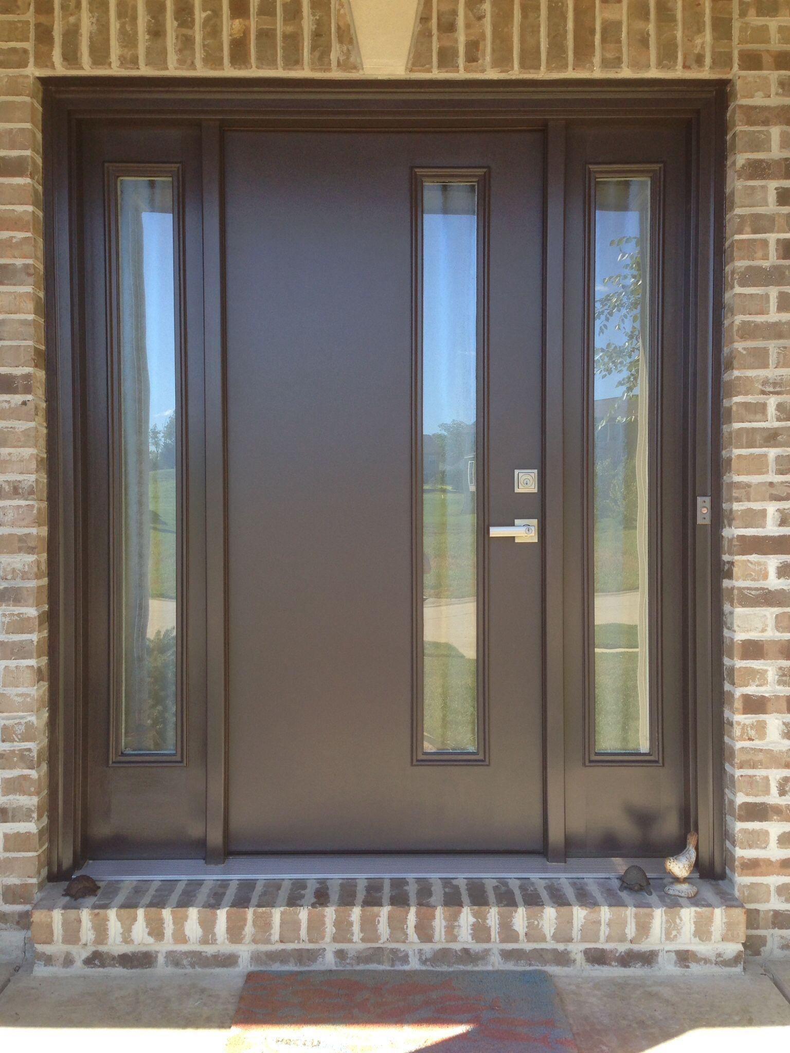 Front Door. Therma Tru Fiberglass Door