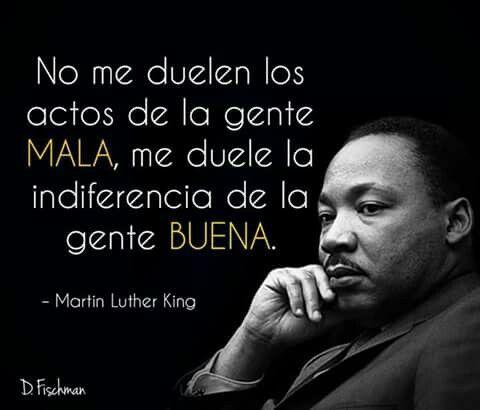Frase De Martin Luther King Frase Sobre La Gente Buena Y