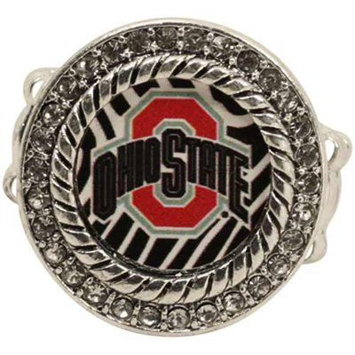 Ohio State Buckeyes Zebra Twisted Rope Stretch Ring