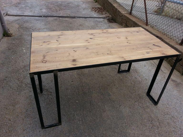 Tavolo In Ferro Brunito E Legno : Tavolo in ferro brunito e legno cerca con google tavolo sara e
