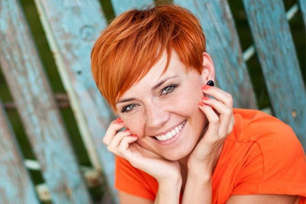 With Very Short Hair, You Can Go BOLD With Color.