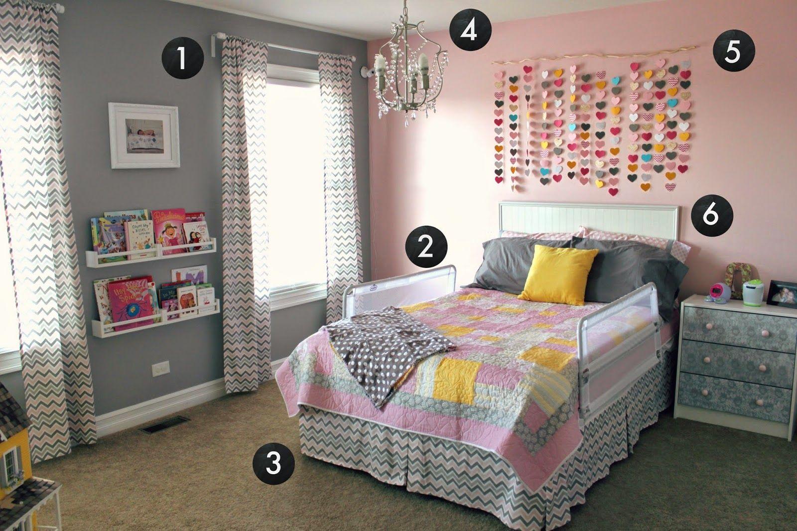 room reveal girl's bedroom on a budget. Girls bedroom
