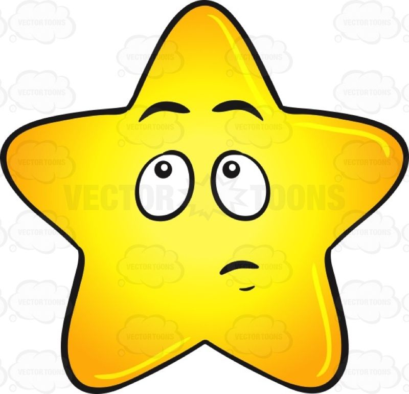 single gold star cartoon with wondering look on face emoji rh pinterest com Gold Star Clip Art Cluster College Graduation Clip Art