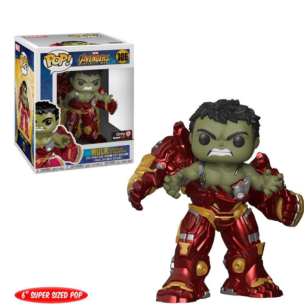 Heres A Glam Shot Look At Gamestop Exclusive Hulk Busting Out Of Hulkbuster He Can Be Ordered Online Now Funko Pop Avengers Funko Pop Dolls Marvel Pop Vinyl
