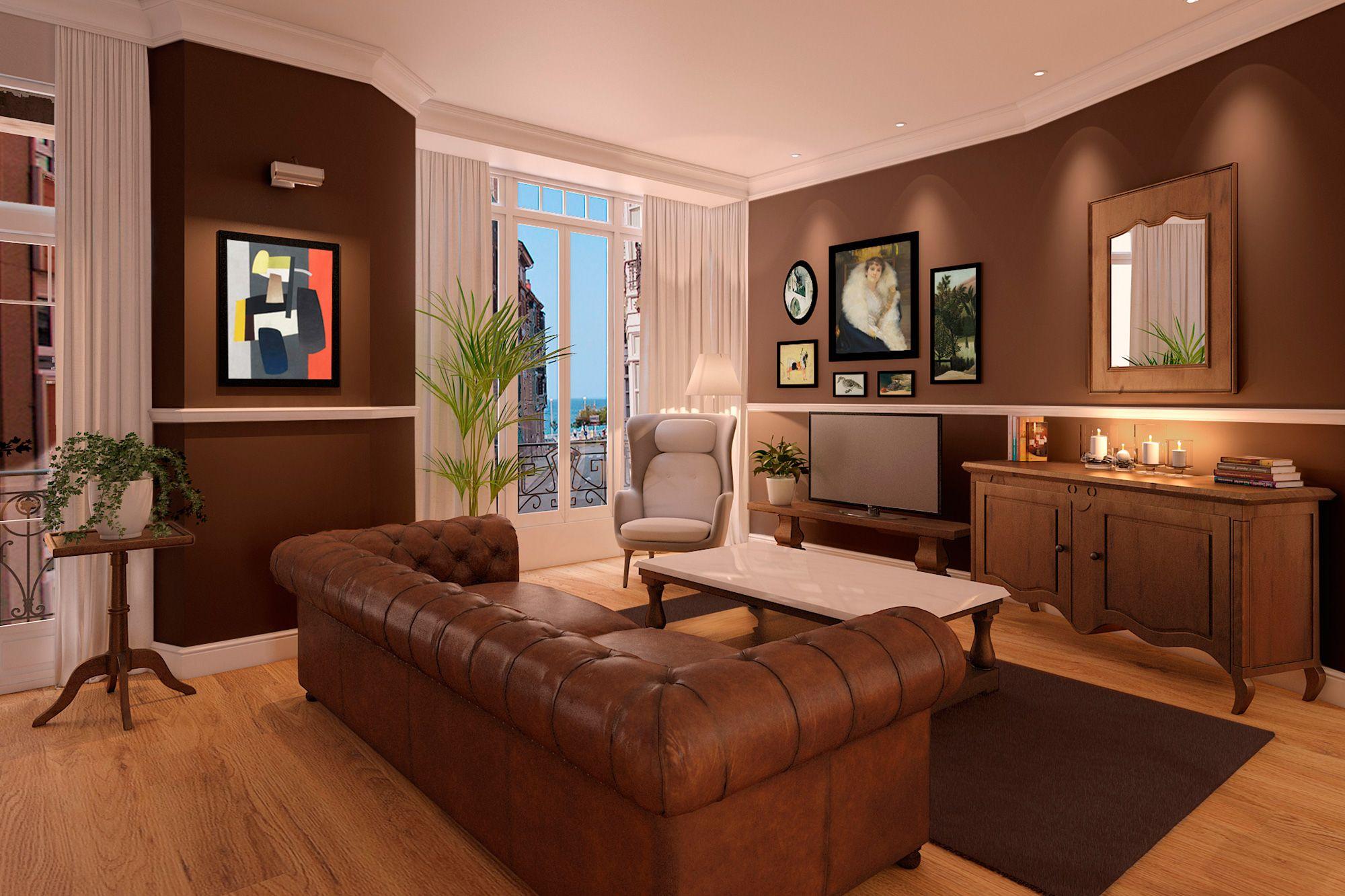 Interior design project for Goya Intercontinental. Parisian living room.  #interiordesign #parisian
