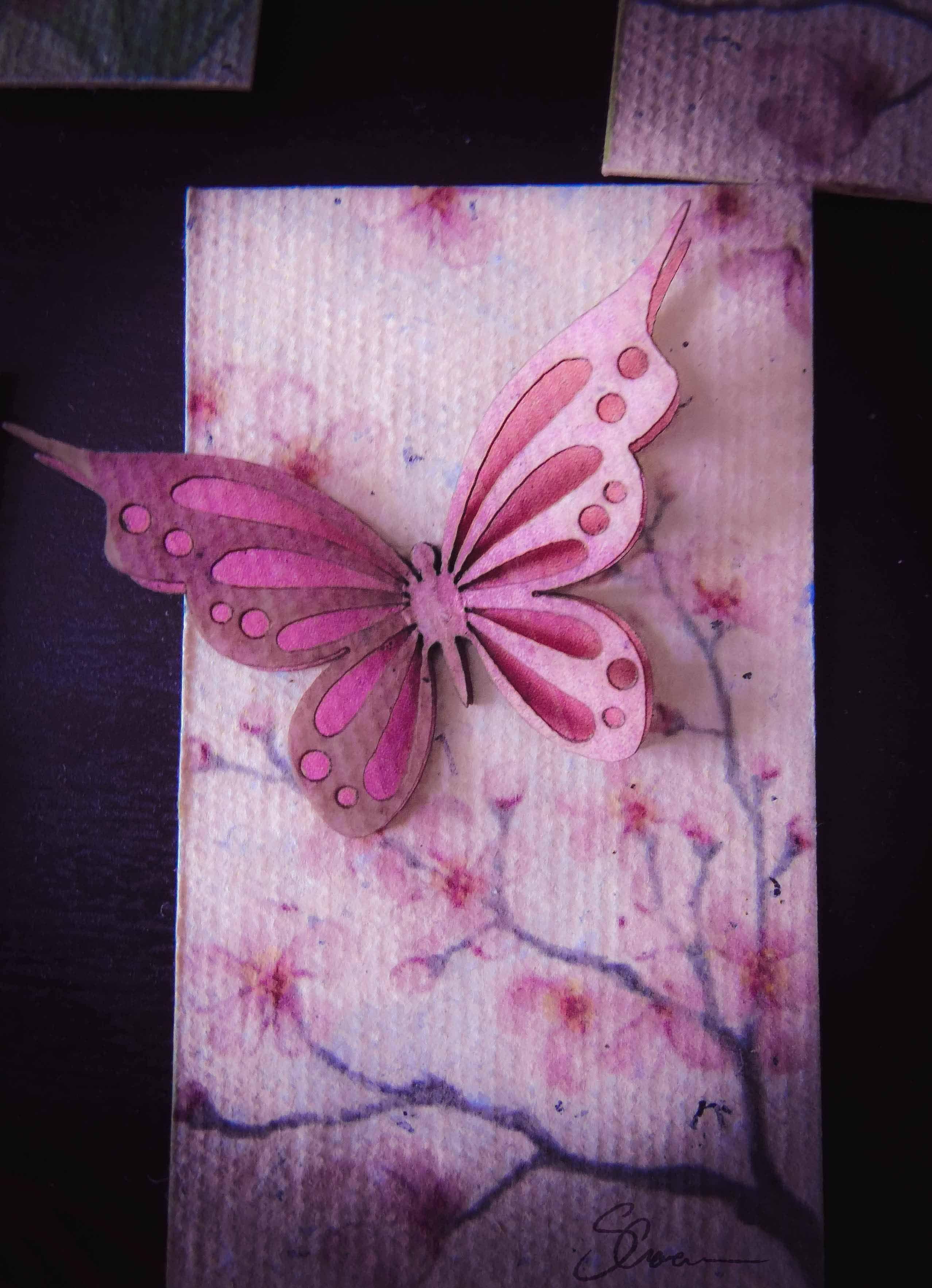 Handmade paper, lasercut, digital painting