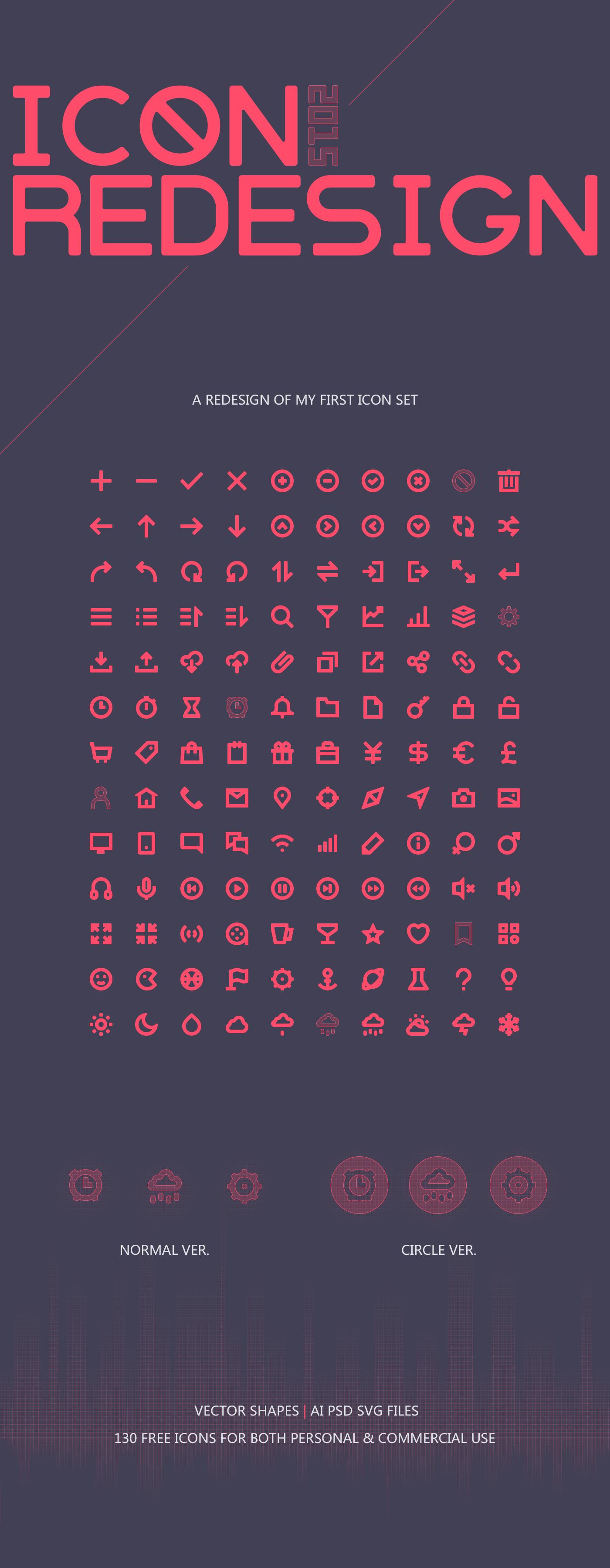 2015 Icon Redesgin on Behance