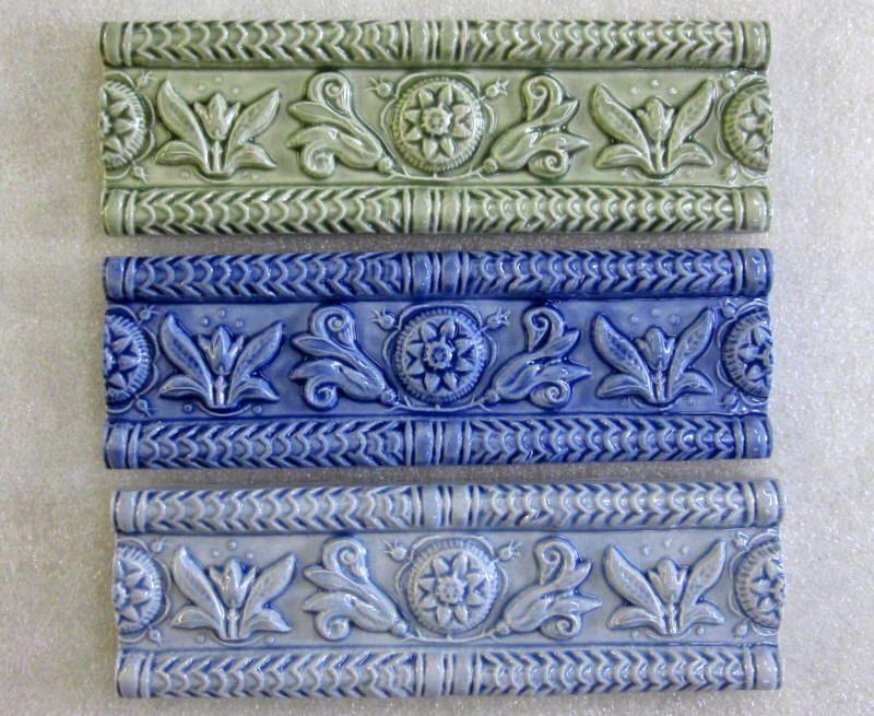 Ceramic ButterMold Border tile -- 2x6 relief border tile, decorative border, kitchen backsplash, Made to Order by FarRidgeCeramics on Etsy https://www.etsy.com/listing/198046512/ceramic-buttermold-border-tile-2x6