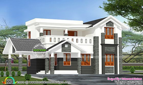 244 Square Yard Modern 4 Bedroom Home Modern Style House Plans Kerala House Design House Outside Design