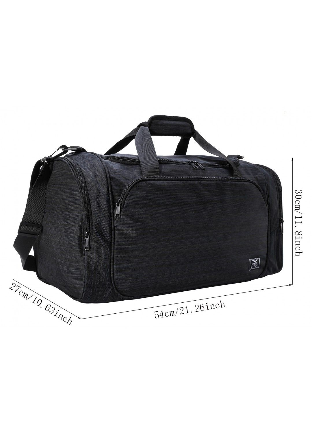 fc0b646309 MIER Black Gym Bag with Wet Pocket Travel Duffel Bag for Men and Women