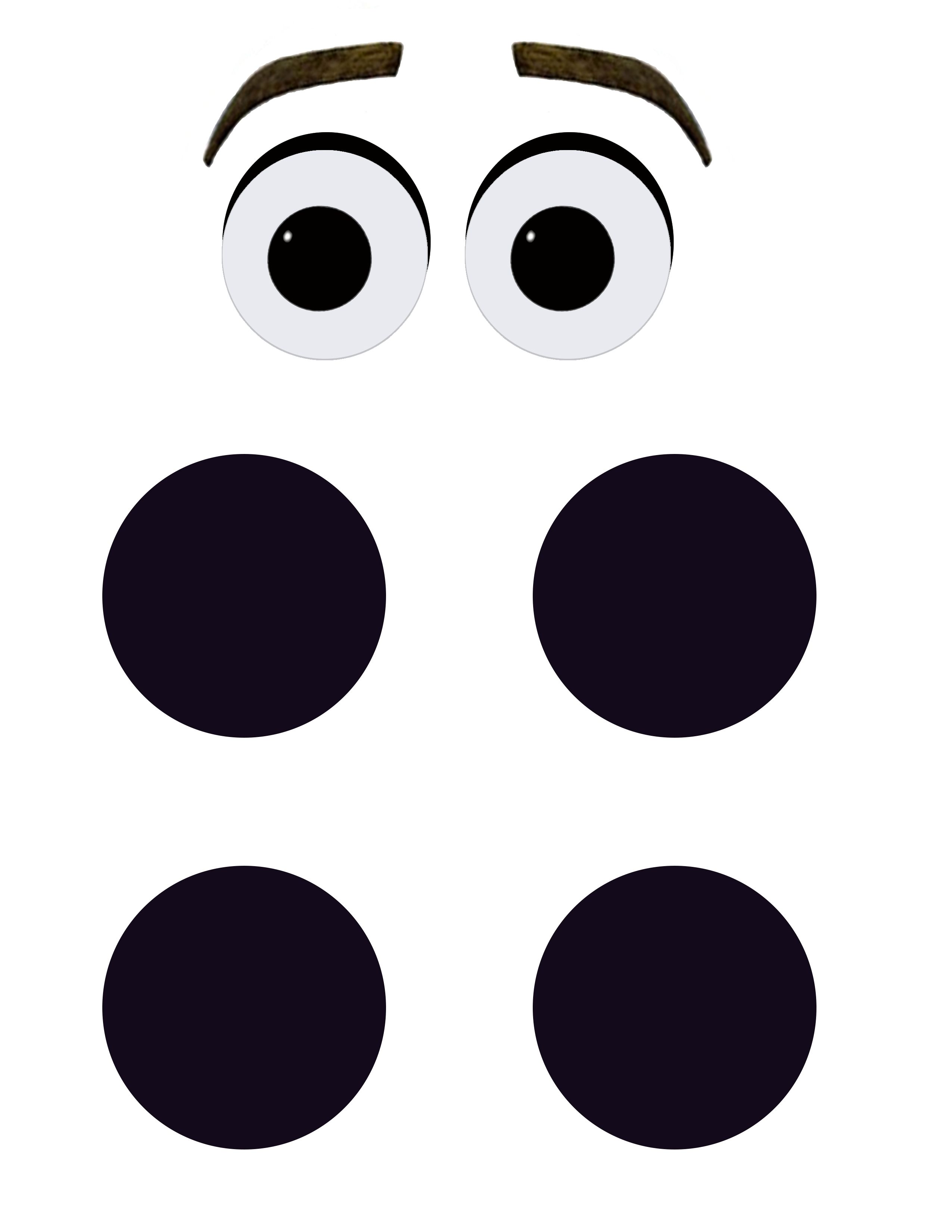 Printable Olaf Eyes and Buttons for DIY Halloween Costume or Party ...