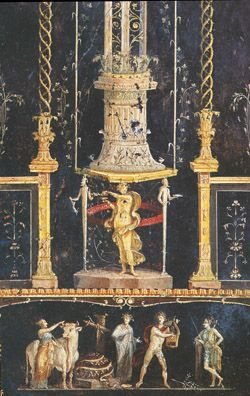 house of the vettii pompeii third style painting note attenuated